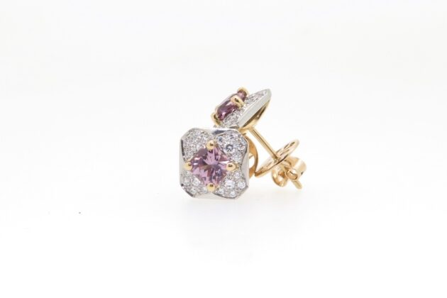 Pink Spinel studs